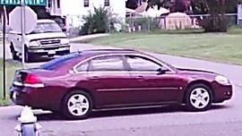 side view of get away car